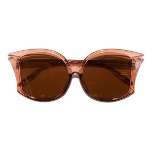 Retro 70s Big Fan Fin Sepia Sunglasses